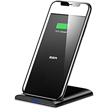 ESR ワイヤレス充電器 スタンド型(10W / 7.5W / 5W)、対応機種:iPhone 11/ 11 Pro/11 Pro Max/XS Max/XS/XR/X / 8/8 Plus、Galaxy S10 / S10 + / S10e / S9 / S9 + / S8 / S8 + /Note 10/ Note 10 plus/Note 9 /Note 8 / S7 / S7 Edge (ACアダプタ別売)、ブラック