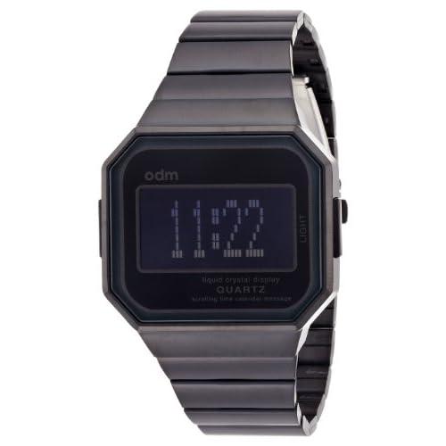 [オーディーエム]o.d.m 腕時計 MysteriousVII (ミステリアスセブン) デジタル表示 スクローリングメッセージ機能付き イオンプレーティングブラック DD129-1 メンズ 【正規輸入品】