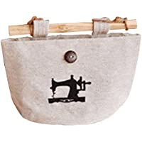 Viskey   復古風 ミシン模様付き 壁掛け収納袋