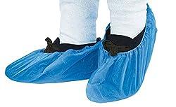 Keepjoy シューズカバー 100枚セット 使い捨て ビニール 靴カバー 簡単便利 衛生 家庭用品 ブルー