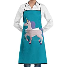 Berrye E Unicorn Cotton Canvas Women's Apron with Convenient Pocket Durable Stripe Kitchen and Cooking Apron for Women Professional Stripe Chef Apron for Cooking, Grill and Baking