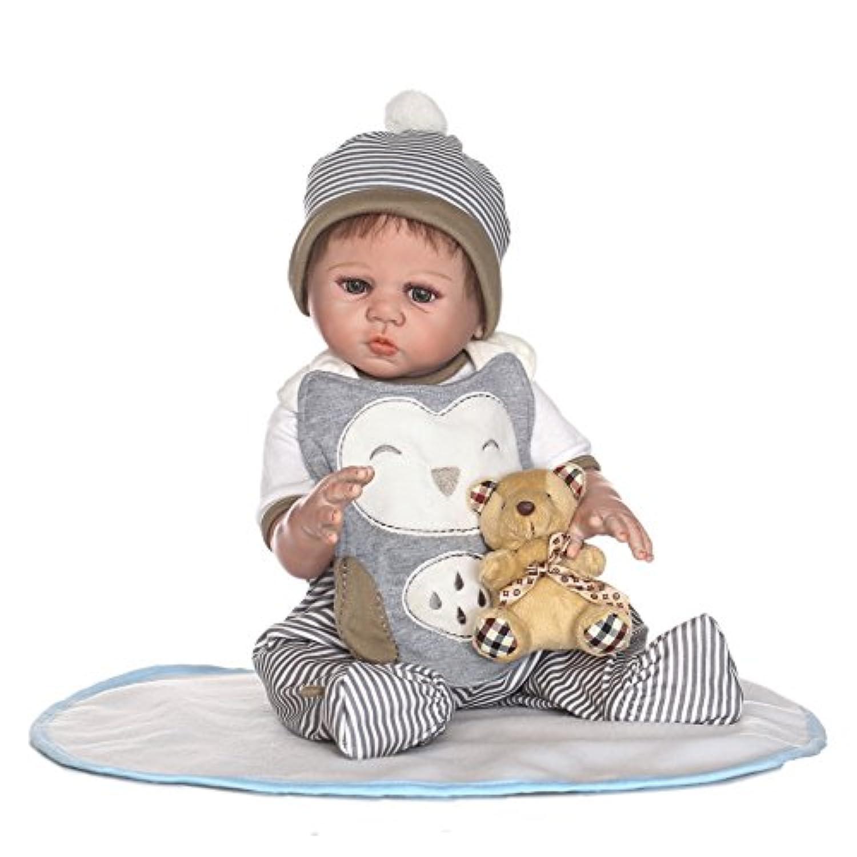 SanyDoll Rebornベビー人形ソフトシリコン21インチ52 cm磁気Lovely Lifelike Cute Lovely Baby b0763lp5yy