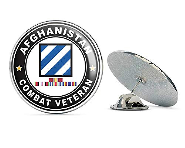 退役軍人ピンズ アメリカ陸軍第三歩兵 アフガニスタンキャンペーン リボン付き メタル 0.75インチ ラペルハット ピン タイタック ピンバック