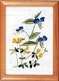 フランス刺繍キット No82 つゆくさとみやこぐさ(15cm×11cm)