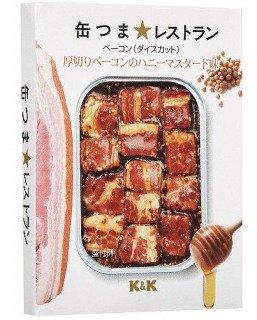 K&K 缶つま★レストラン 厚切りベーコンのハニーマスタード味 105g×24缶