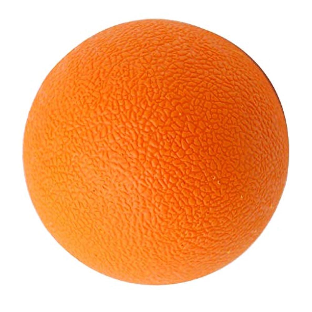 ずっと書く純粋なラクロスボール マッサージボール トリガーポイント 筋膜リリース 背中 首 ツボ押しグッズ オレンジ