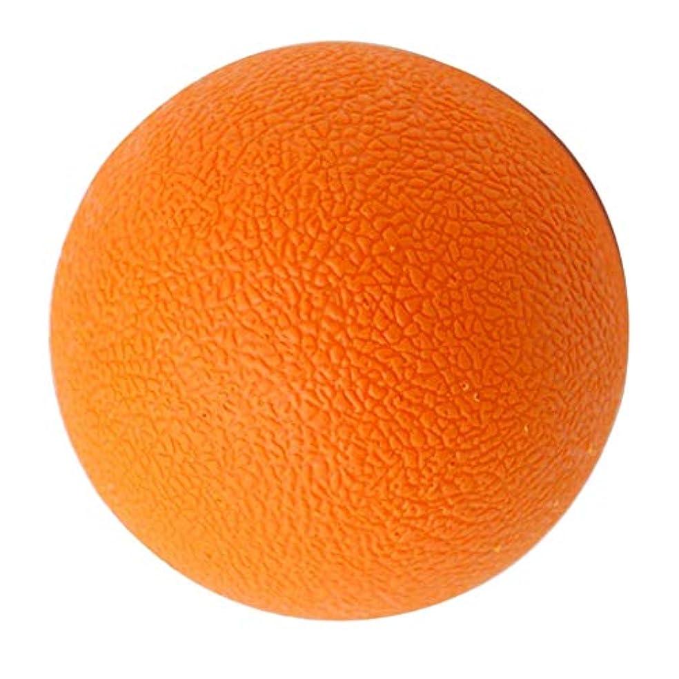 脚精査全体にラクロスボール マッサージボール トリガーポイント 筋膜リリース 背中 首 ツボ押しグッズ オレンジ