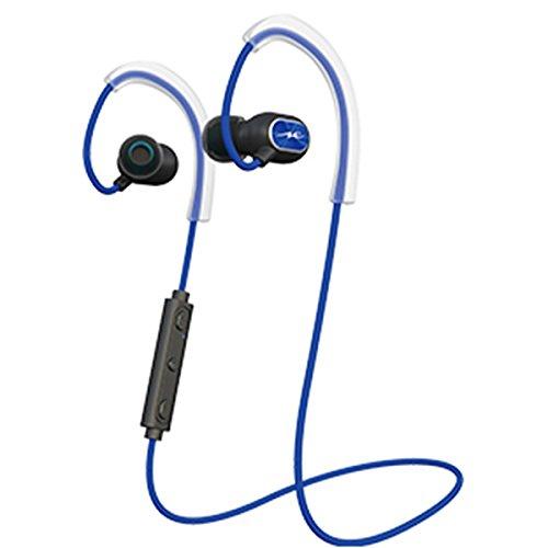ラディウス HP-S100BTB ブルー  Bluetoothイヤホン