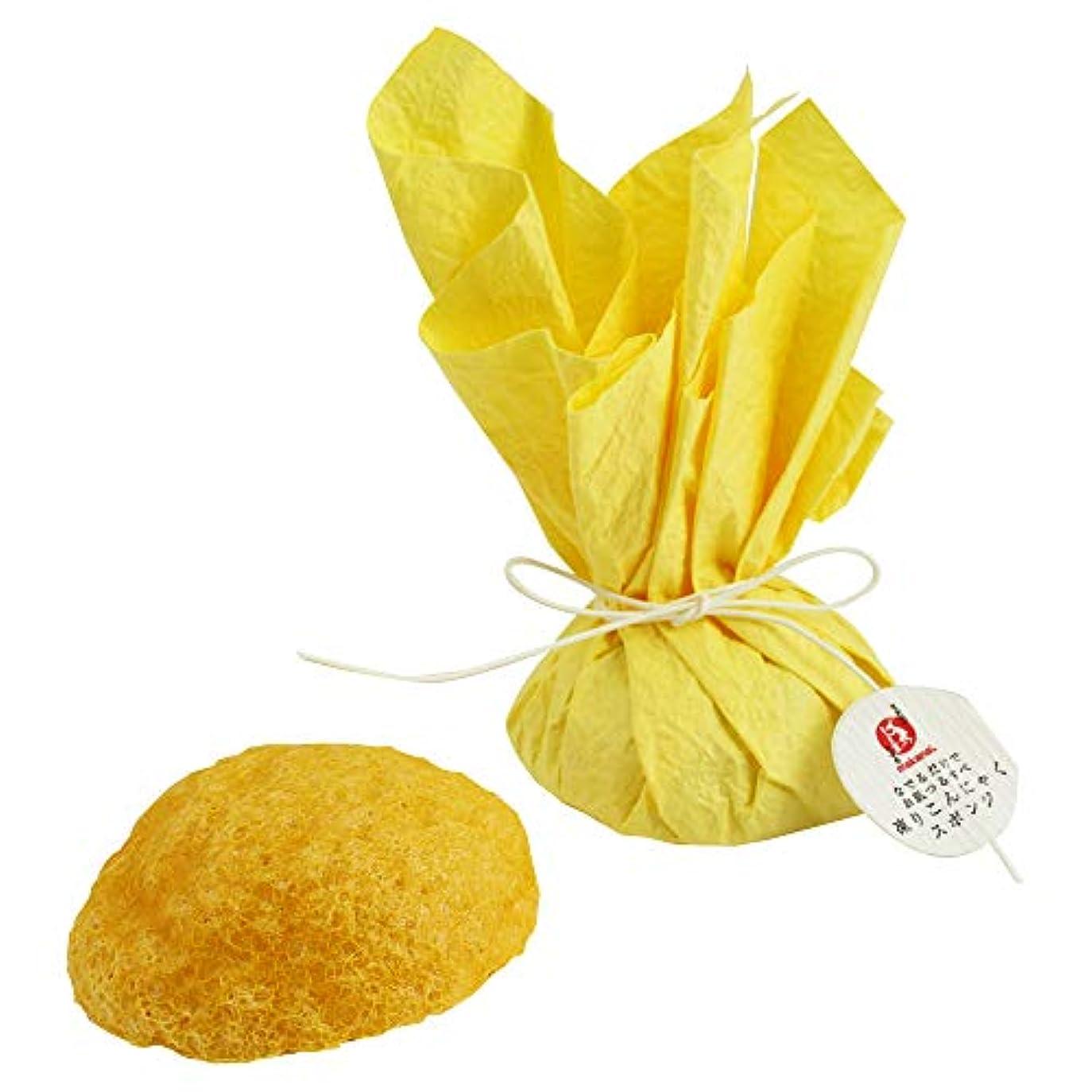 ヨーグルト首ダイバーまかないこすめ 凍りこんにゃくスポンジ(柚子/黄色)