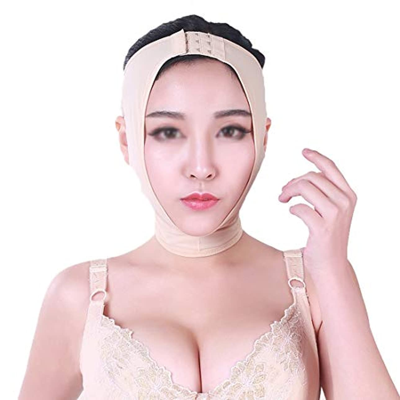 マラソンマーカースキームZWBD フェイスマスク, 薄い顔包帯二重あごケア減量マスクリフト引き締めv顔小さなv顔二重あごリフト包帯 (Size : S)