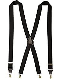 FlorsheimメンズClip On Suspenders withレザードロップクリップ46インチ