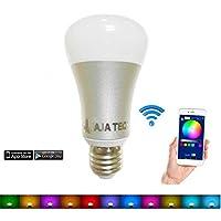 Jaja Techスマート電球RGBW 2.4G WIFI APPコントロール調光照明電球と互換性Alexa Echo Dot 1パックアメリカから発送