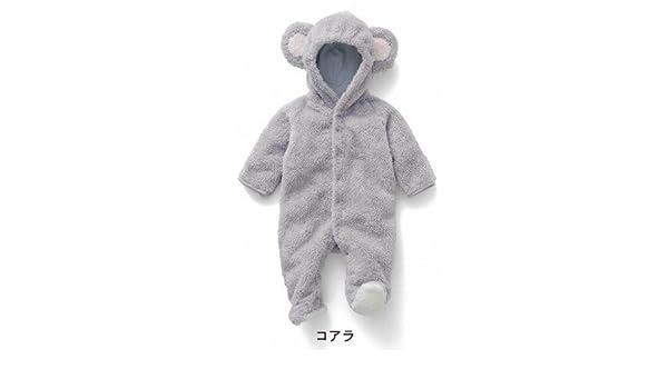 12e24de6b2036 Amazon.co.jp: ウィンターバーゲン 激安 ベビー用 赤ちゃん 着ぐるみ ベルベットフリース カバーオール ジャンプスーツ ロンパース  コアラ・ 撮影 出産祝い (80