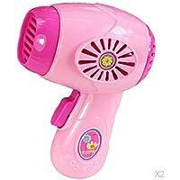 P Prettyia ドライヤー 家電 ごっこ遊び キッズ ドールハウス おもちゃ用 ピンク