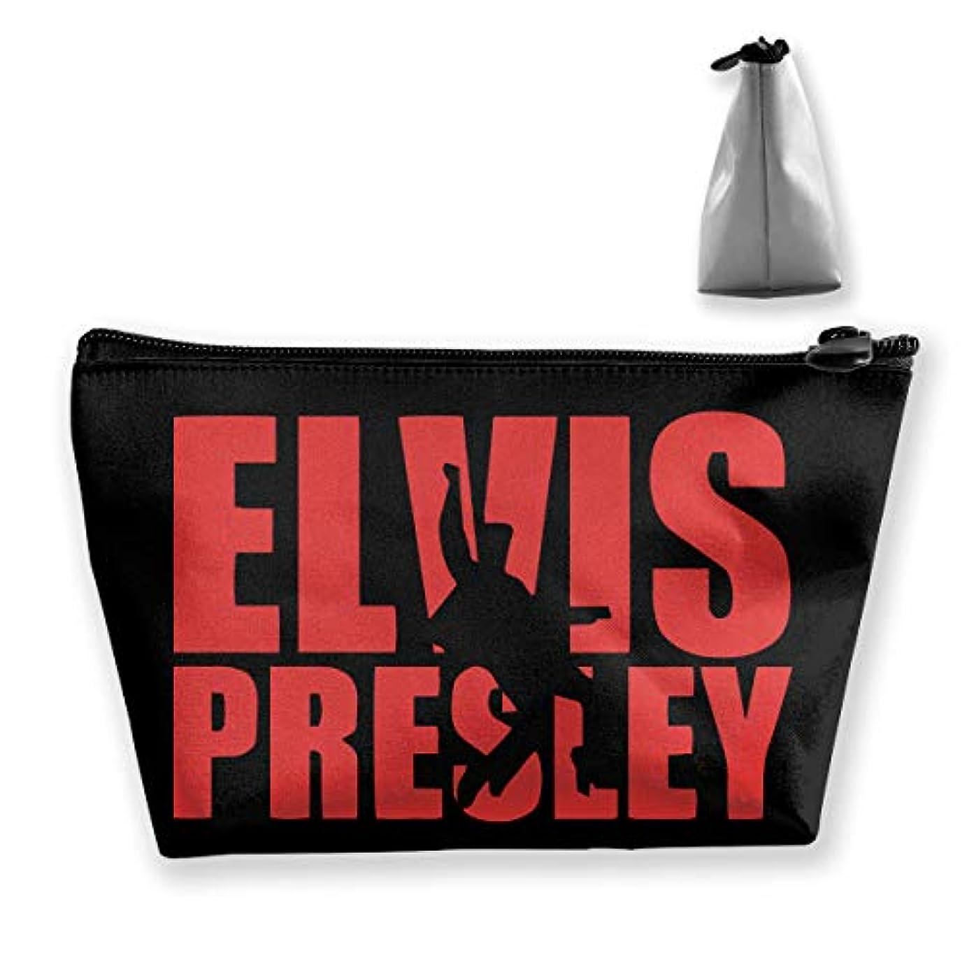 偽本物の風景エルヴィス プレスリー 英字プリント Elvis Presley 収納バッグ 化粧バッグ メイクポーチ 化粧品収納 ラダー トラベルポーチ 小物入れ 普段使い 機能的 大容量 旅行も便利 撥水する防水ポーチ ユニークバック