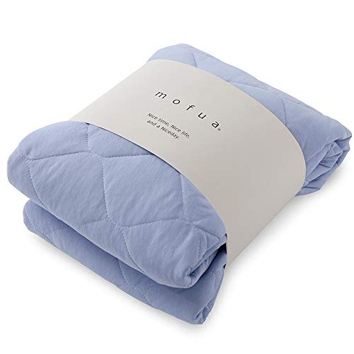 mofua cool モフアクール 涼感 敷きパッド アイスブルー シングル (100×200cm) 綿100% ドライコットン ムレずにさらっと快適 抗菌 防臭 洗える 31260144