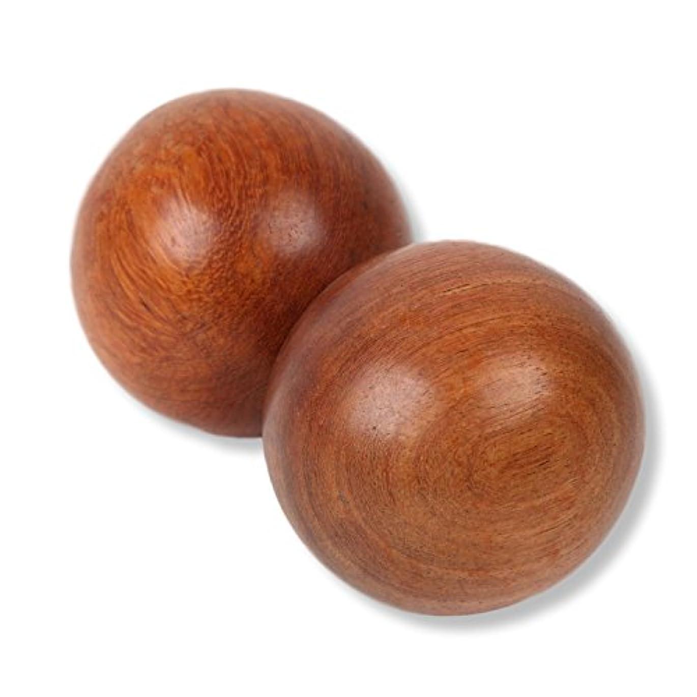 過剰師匠ラブSunnyBran 木製ボール マッサージ リハビリ インテリア 等に 2個入り