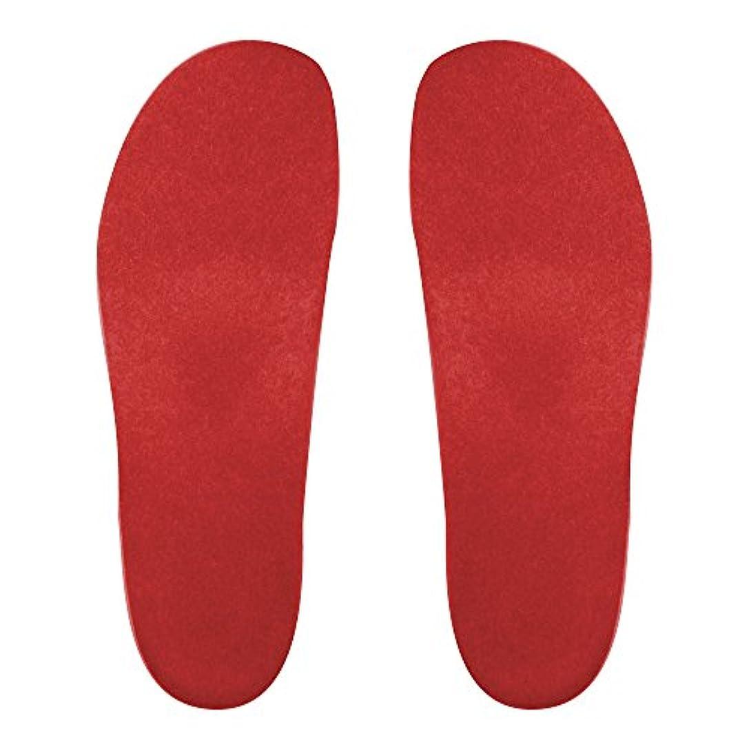 びっくり補償冷蔵するプレミアムルームシューズ「フットローブ ピエモンテ / footrobe Piemonte」専用外反母趾対策フェルトインソール(レッド)女性用 24.0cm