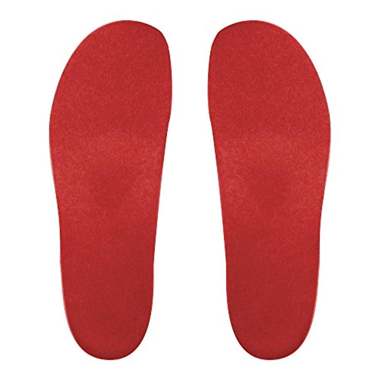 全体プログラムボイコットプレミアムルームシューズ「フットローブ ピエモンテ / footrobe Piemonte」専用外反母趾対策フェルトインソール(レッド)女性用 25.0cm