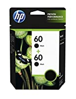 HP 60 Black Original Ink Cartridge (CC640WN) 2 Cartridges (CZ071FN) 【Creative Arts】 [並行輸入品]