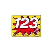 【平日15時までのご注文で当日発送】スチール製 プライスボード 10枚セット 数字付 AS-47S