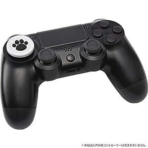 CYBER ・ 方向キーカバー ねこにゃん ( PS4 用) 白 - PS4