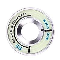 アルミ合金ルミナスイグニッションキーがリングカバー鍵穴を切り替えます。