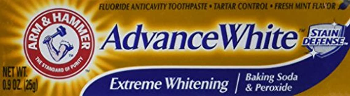テクニカル採用するケントArm & Hammer Advance White Extreme Whitening Toothpaste .9 Oz Travel Size by Arm & Hammer