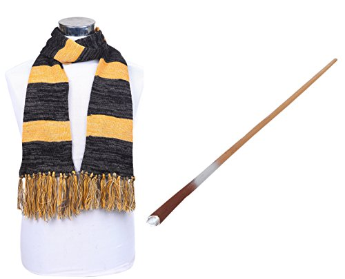 Amafanshop ファンタスティック ビーストと魔法使いの旅 魔法の杖 マフラー 2点セット 男女兼用 コスプ レコスチューム 小物 (杖とマフラー(2点セット))