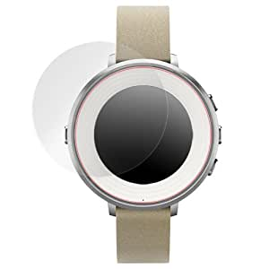 OverLay Brilliant for Pebble Time Round (2枚組) 極薄 光沢 液晶 保護 シート フィルム プロテクター OBPEBBLEROUND/2/12