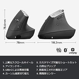 Logicool ロジクール MX Vertical アドバンスエルゴノミックマウス MXV1s 2年間無償保証 Bluetooth