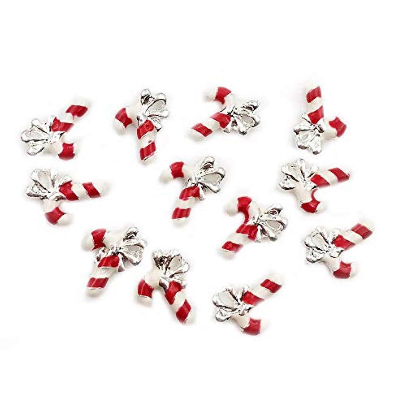石化するベスト免疫クリスマスツリー10 PCSメタル3Dネイルアートクリスマスの装飾チャームネイルズグリッターラインストーンネイル用品ジュエリー