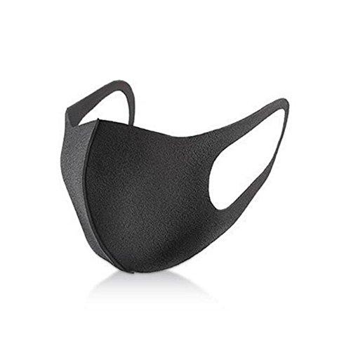ブラックマスク 黒マスク 花粉予防 スモッグ避け ほこり防止 フリーサイズ ポリエステルマスク スポンジマスク 男女兼用 3枚セット