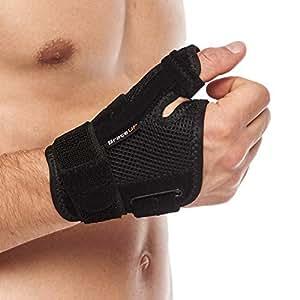 BraceUP サム スパイカ サポート ブレース ステー付き 関節炎 手根管症候群 捻挫用 親指 サポーター