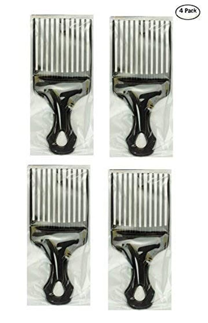 プラス地域のアブセイPro Grade Hair Pick Afro Pick Styling Pik (Pack of 4) 7 Inch [並行輸入品]