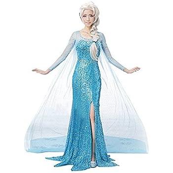 アナと雪の女王 エルサドレス 3点セット コスチューム レディース Lサイズ