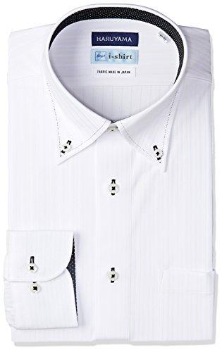 (はるやま) HARUYAMA i-shirt 完全ノーアイロン 長袖 ボタンダウンアイシャツ M151180097 01 ホワイト L82(首回り41cm×裄丈82cm)