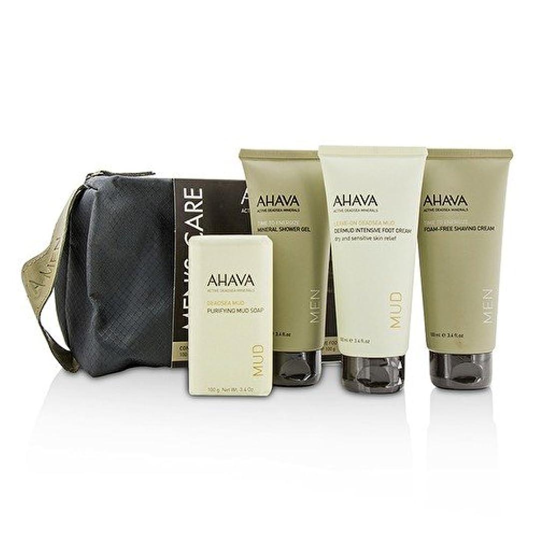 城遅れ雄弁家アハバ Men's Care Set: Shaving Cream 100ml + Mineral Shower Gel 100ml + Dermud Intensive Foot Cream 100ml + Purifying...