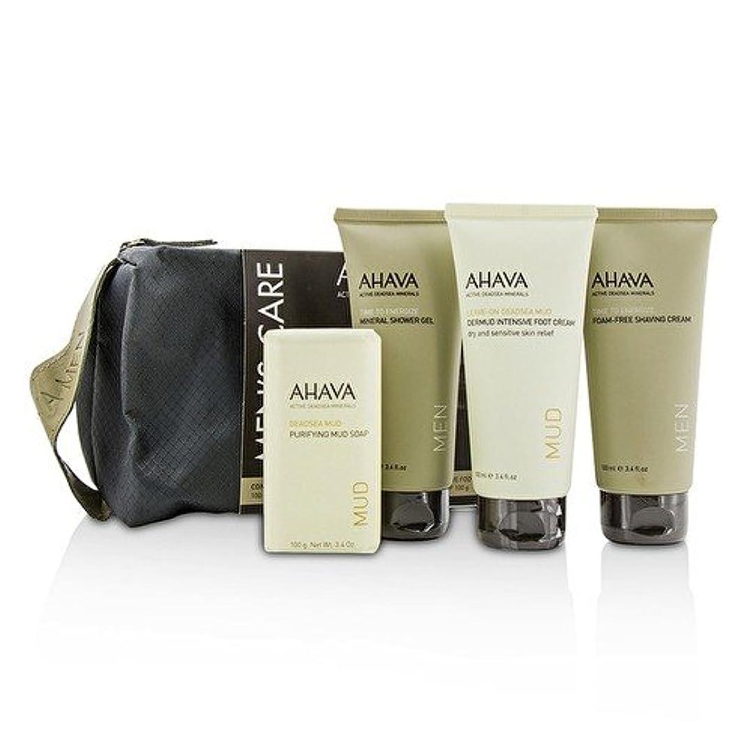 自発的ラベンダー潜水艦アハバ Men's Care Set: Shaving Cream 100ml + Mineral Shower Gel 100ml + Dermud Intensive Foot Cream 100ml + Purifying...