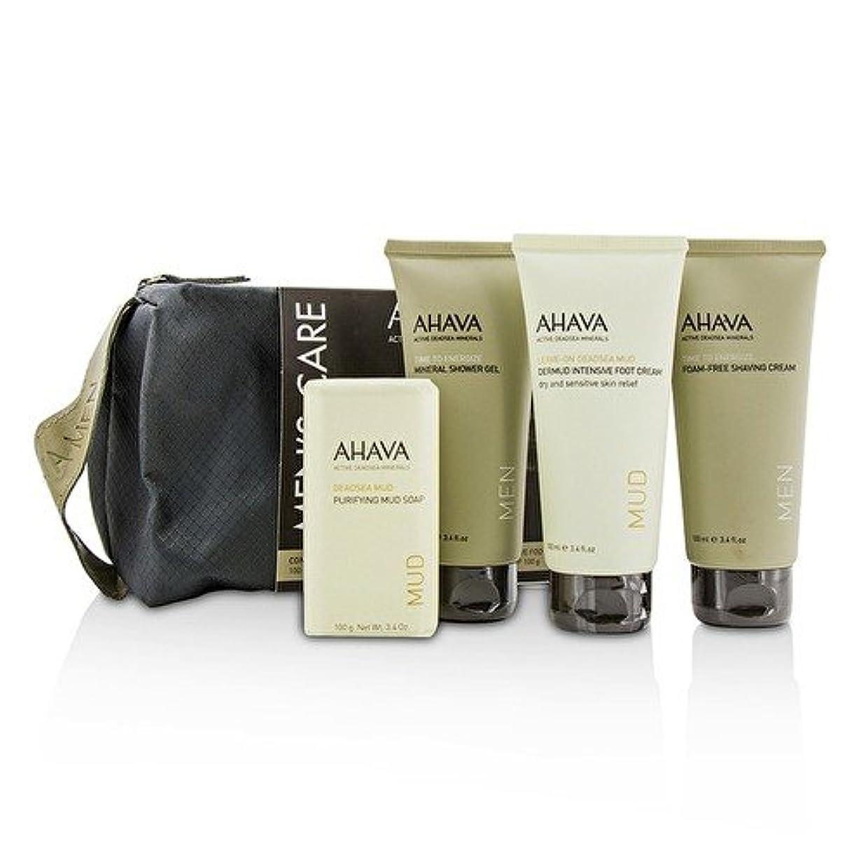 長くする難破船広まったアハバ Men's Care Set: Shaving Cream 100ml + Mineral Shower Gel 100ml + Dermud Intensive Foot Cream 100ml + Purifying...