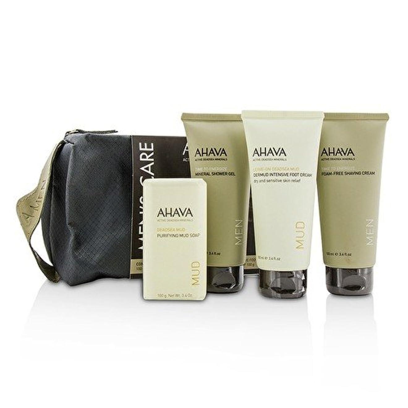 矛盾世紀隙間アハバ Men's Care Set: Shaving Cream 100ml + Mineral Shower Gel 100ml + Dermud Intensive Foot Cream 100ml + Purifying Mud Soap 100g 4pcs