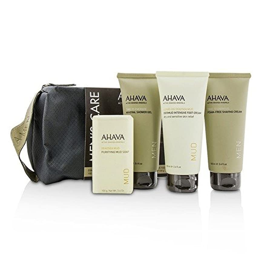ベイビーズームオセアニアアハバ Men's Care Set: Shaving Cream 100ml + Mineral Shower Gel 100ml + Dermud Intensive Foot Cream 100ml + Purifying...