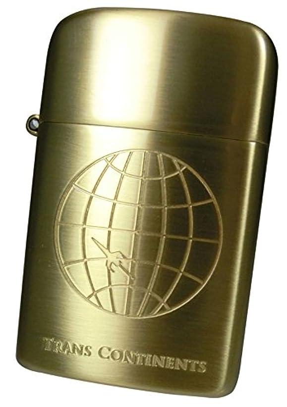 ラベ宣言慣れるRONSON(ロンソン) フリントオイルライター タイフーン TRANS CONTINENTS MODEL ブラスサテン TCO1R-30001