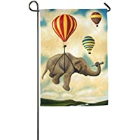 DFGTLY Fashion Personalized Garden Flag,Traveling Elephant Garden Flag-12