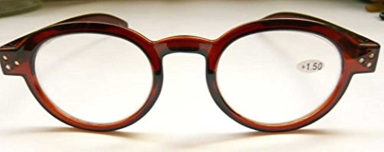 ジョン?レノンもかけていたロイドメガネタイプの老眼鏡 (2.5, Brown)
