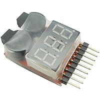 EasyWordMall 1-8S リポバッテリー アラーム 簡易電圧チェッカー リポバッテリーチェッカー