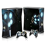 Linyuan 安定した品質 T0232* Skin Decal Wrap Sticker for Microsof XBOX360 SLIM Console+2 Controllers