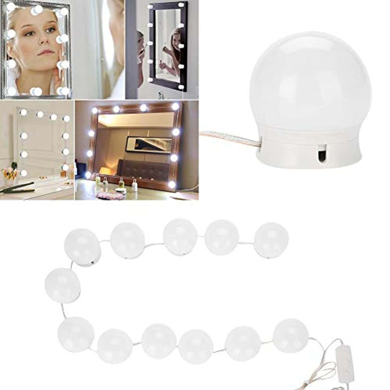 予報トレースライオンSemme LEDの虚栄心ミラーライトキット、化粧鏡のためのハリウッドの化粧鏡ライトストリップ調光対応電球ドレッシング、化粧品、浴室のためのDIY装飾照明設備ストリップ(鏡はIncではありません)