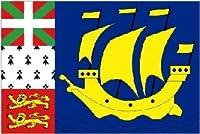 国旗 サンピエール・ミクロン島旗(フランス海外準県)90×150cm