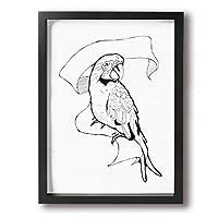 オウム 背景絵画 現代絵画 キャンバス絵画 部屋飾り 額縁付きの完成品 絵画 軽くて取り付けやすい (木枠付30x40 Cm)